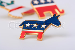 The donkey - a democratic party symbol in the USA, is used in the pre-election company.