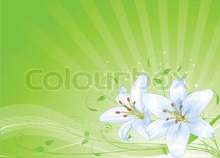 Radial baggrund af påsken liljer