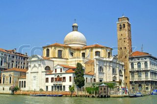 Church of San Geremia and Grand Channel in Venice, Italy