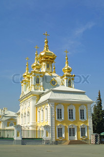 Orthodox church at Peterhof, Saint Petersburg, Russia