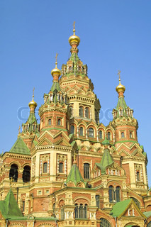 Cathedral of St. Peter and Paul in Peterhof, Russia