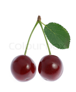 Cherry. A fruit of a fruit tree it is isolated on a white background