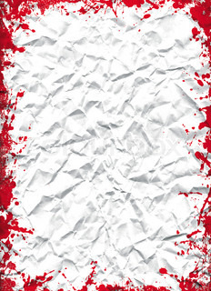 crushed white sheet with grunge red ink frame