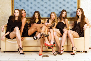 Six beautiful women