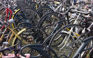 A bike-sharing station