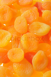 Large Group of Dried Apricot