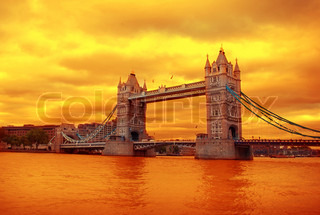 View on Thames and Tower Bridge, London