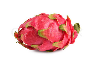 Raw dragon fruit isolated on white background