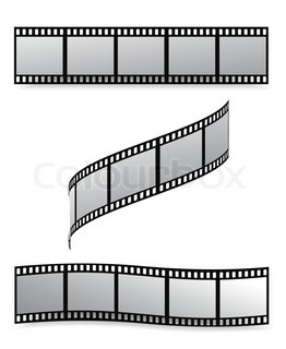 vector film strip with empty frames