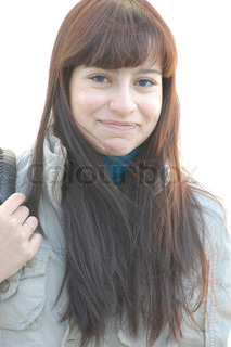 Pretty happy smiling white woman headshot closeup