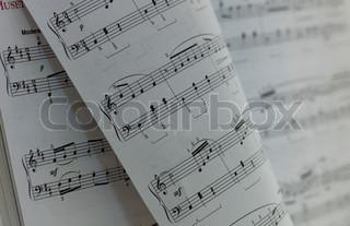 Written Music Notation Sheet in book