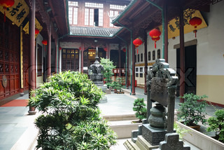 Little garden in the ancient chinese house