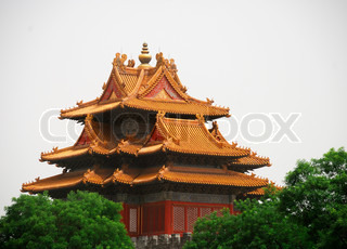 Beautiful ancient temple in the corner of Forbidden City