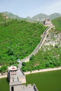 Beautiful landscape of Great Wall near the Beijing