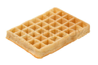 A Waffle isolated over white