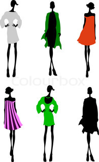 Six Fashion Girls Silhouette. More In My Portfolio.