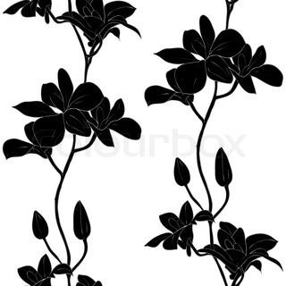 Vektor sømløs baggrund med orkideer