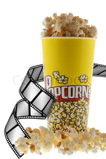 Popcorn und Film.