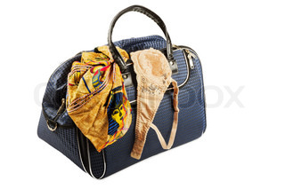 Travel bag isolated on a white background