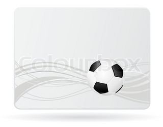 card with football ball