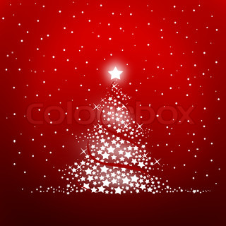 christmas tree on a red bakground