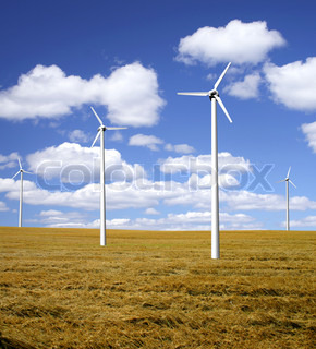 Wind power park countryside