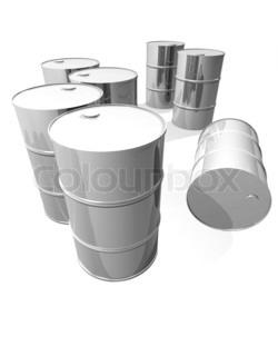Shiny metal barrels
