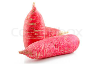 Ripe Red Radish Vegetable Isolated on White Background