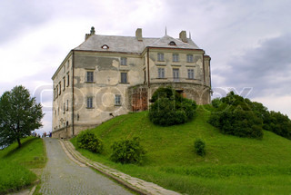 The Middle Ages castle in Olesko, Ukraine