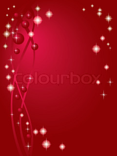 Holiday Red decorative background with stars vector illustration EPS-8