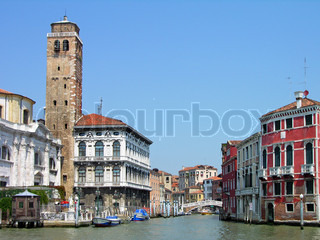 Buildings on Grand Canal, Venice