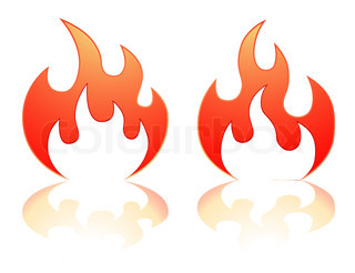flame vector icons