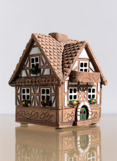Miniature model of a house from ceramics