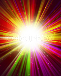 magic burst with rays of light, abstract background