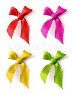 color bow ribbon variations