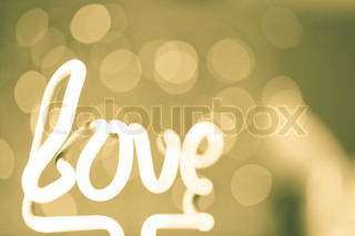 Love style abstract defocused background