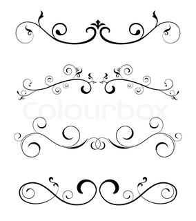 Floral Borders Design Elements Vector Colourbox
