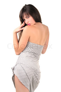 Sexual girl on white background