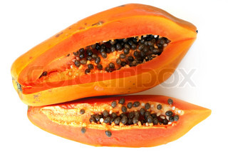 Papaya isolated on white backgrounds