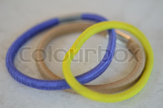 colored hair accessories,