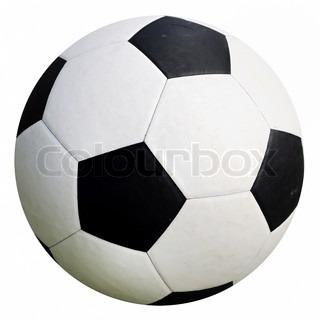football soccer ball isolated on white