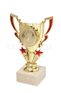 sports awards isolated on a white background