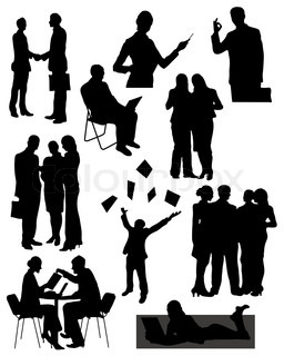 Vector of 'people, silhouette, vector'