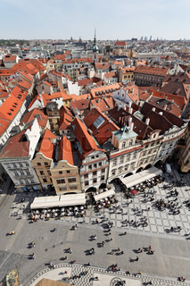 Prague, Old Town Square, view from the Town Hall Square