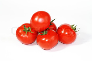 Red Tomatoes isoliert