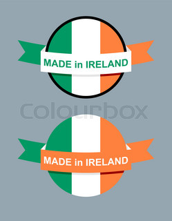 in Ireland logo for product Map of Ireland and Ribbon with