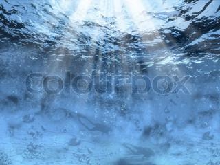 Bild von 'blau, auf den kopf hauen, schwimmend'