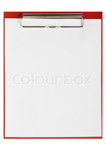 Folder for papers wtih empty blank. Office subject it is isolated on a white background
