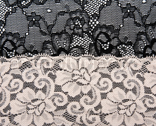 Black and beige lace with pattern flower by background