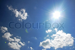 photography of a blue sky with sun rays